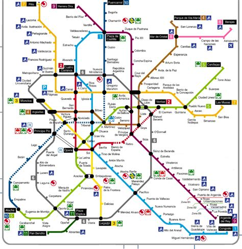 plano metro de madrid plano del metro madrid pdf mapa