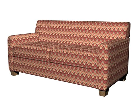 wavy couch red burgundy gold and green wavy contemporary upholstery