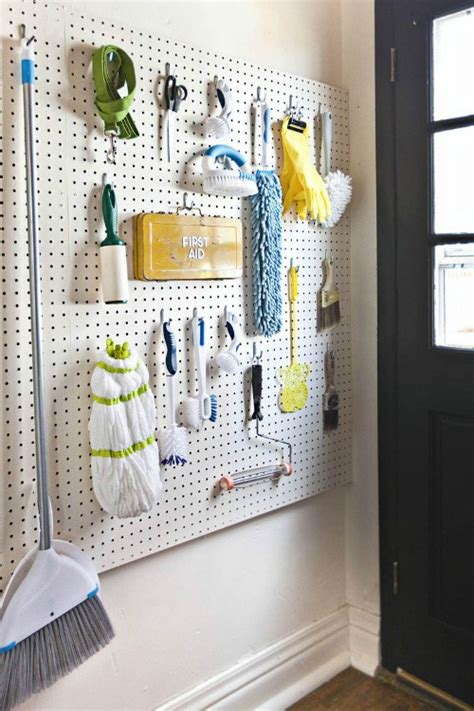 Pegboard Closet Organizer by Pegboard Organization Clean And Scentsible