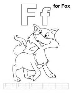 Letter F Coloring Pages  AZ sketch template