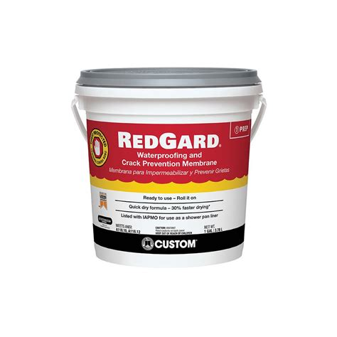custom building products redgard  gal waterproofing