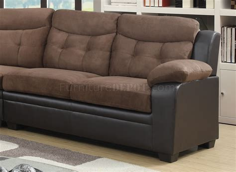 Chocolate Brown Sectional Sofas U880015kd Sectional Sofa In Chocolate Brown By Global