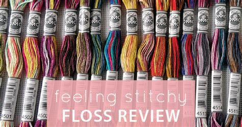 dmc floss card template feeling stitchy floss review free pattern dmc coloris