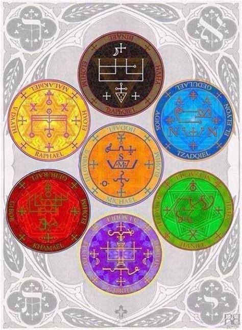 los sellos misticos angelicos son algunos de los sellos