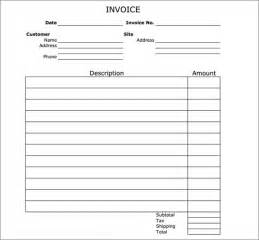Free Printable Invoice Templates Word Blank Invoice Template 50 Documents In Word Excel Pdf