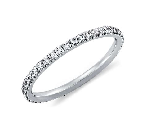 pav 233 eternity ring in 14k white gold 3 8