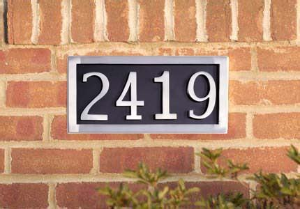 four number address plate brass accents i08 p7540 627