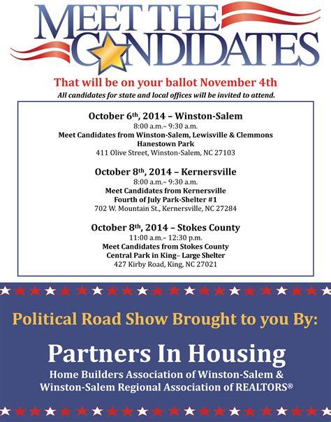 Candidate Meet Greet Winston Salem Regional Association Of Realtors 174 Meet And Greet Flyer Template