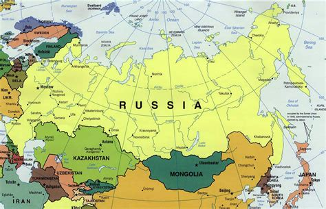 russia map of the world political map of russia russia political map vidiani