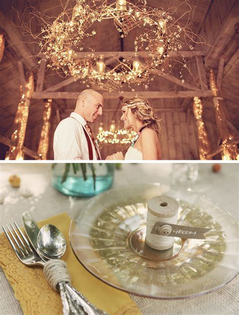 Chic Rustic Wedding Decor Photograph   rustic shabby chic we