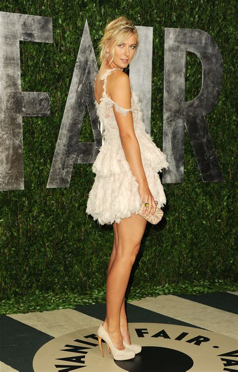 Vanity Fair Oscar Sharapova Sharapova Legs At 2012 Vanity Fair Oscar 08