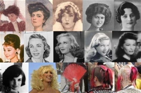 hairstyles through the years hair styles of the last 100 years social serendip