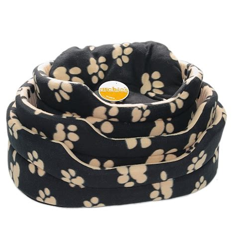 machine washable dog bed soft fleece dog bed oval or square pet cat baskets machine washable by pet face ebay