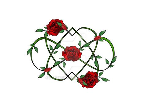 rose infinity tattoo infinity hearts and roses by rockgem designs