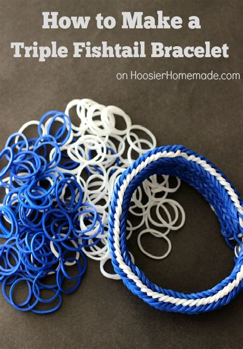 printable directions for rubber band bracelets how to make a triple fishtail rubber band bracelet