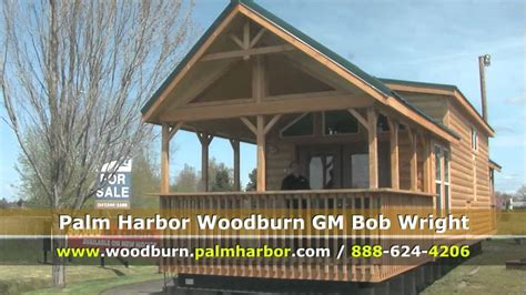 Log Home Interior by Park Model Home Oregon Palm Harbor Homes Youtube