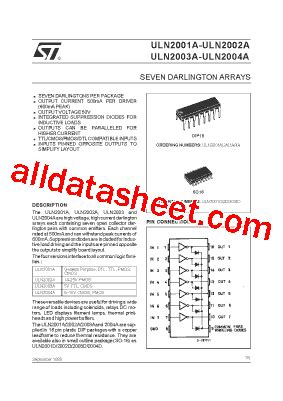 uln2003a datasheet pdf stmicroelectronics
