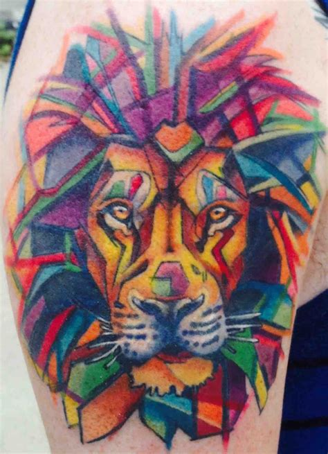 watercolor tattoo lion watercolor by hurley at eclectic lansing