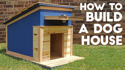 how to build a large dog house plans how to build a dog house modern builds ep 41 youtube