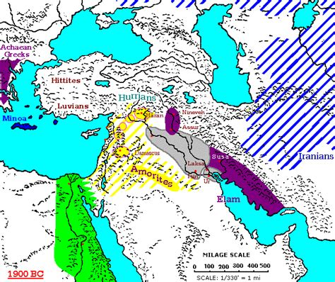 middle east map from 1900 1900 1800 bc