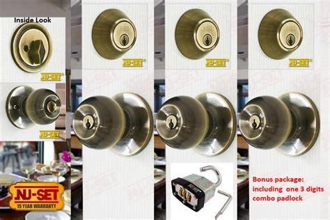 Door Knob Sets Keyed Alike by 3 Sets Of Nuset Us5 Entry Door Locksets Antique