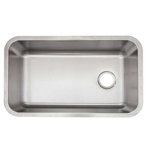 Single Basin Stainless Steel Undermount Kitchen Sink Glacier Bay Undermount Stainless Steel 30 In Single Bowl Kitchen Sink With Drain And Grid