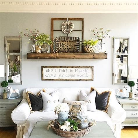 Shabby Chic Armchairs 45 Comfy Farmhouse Living Room Designs To Steal Digsdigs