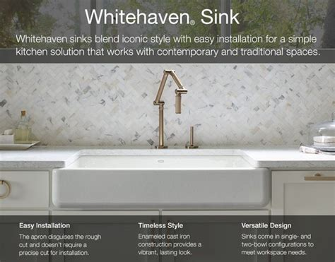 kohler apron sink 36 whitehaven undermount apron front cast iron 36 in single
