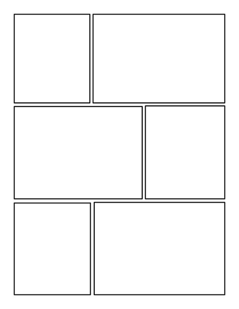 Printable Blank Comic Template For by Printable Comic Template Pdf Word Pages Calendar