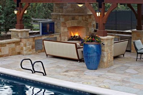 built in outdoor fireplace fireplaces