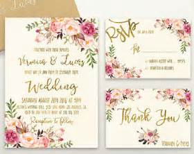 wedding invitations with pictures templates wedding invitations etsy uk