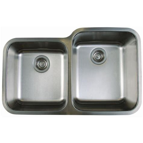 Stainless Undermount Kitchen Sinks Shop Blanco Stellar Stainless Steel Basin Undermount Kitchen Sink At Lowes