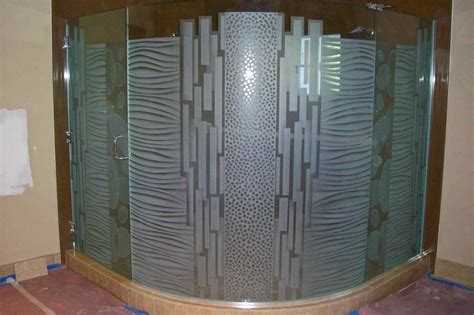 Patterned Glass Shower Doors Textured Glass Sans Soucie Glass