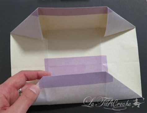 tutoriel de porte cartes en origami la filacroche