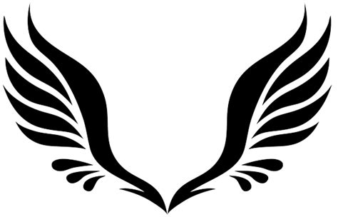 simple tattoo angel wings simple tribal angel wings clipart best