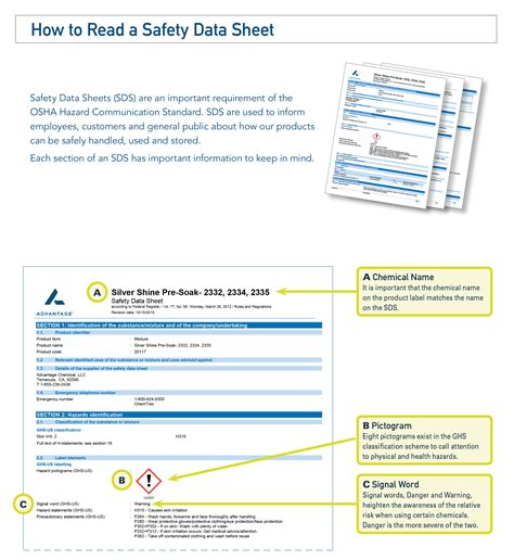 how to read how to read a safety data sheet sds advantage chemical