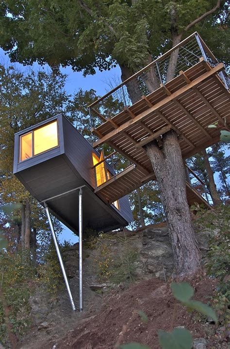 tiny tree house in new york design tree house design