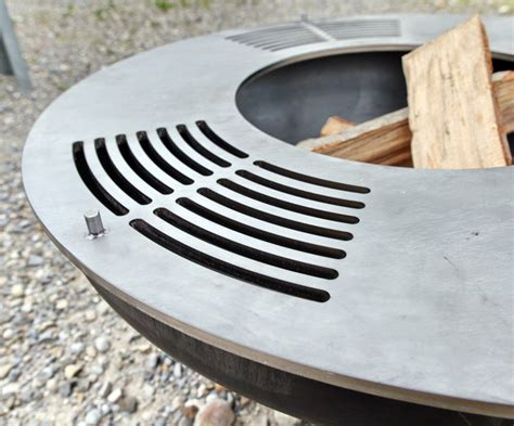 feuerschale grill chromstahl metall werk z 252 rich ag quot grillring quot die edelstahl