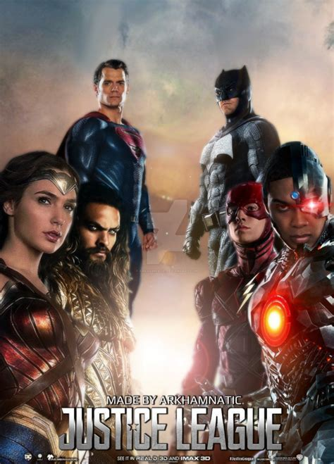 film justice league online justice league movie poster by arkhamnatic on deviantart