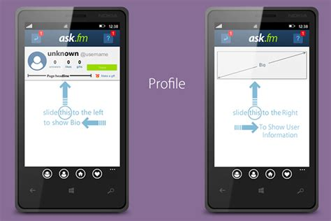 ask fm okk ui ask fm app for windows phone on behance
