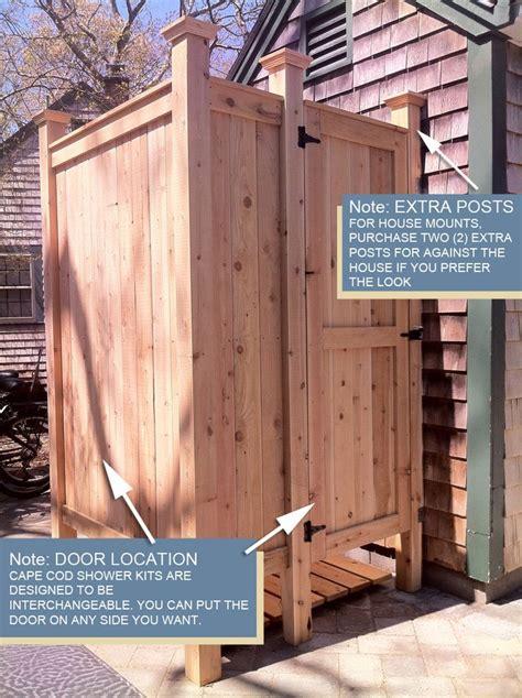 outdoor cing shower kit outdoor shower cedar house mount shower kits