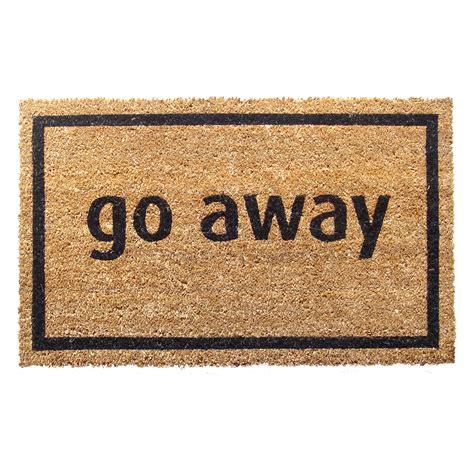 go away nonslip coir doormat doormats at hayneedle - Go Away Doormat