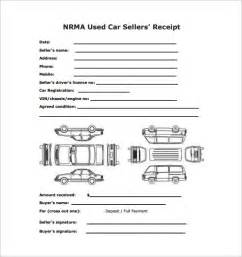 vehicle sales receipt template free sales receipt template 9 free sle exle format