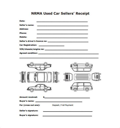 vehicle purchase receipt template car sale receipt template 14 free word excel pdf