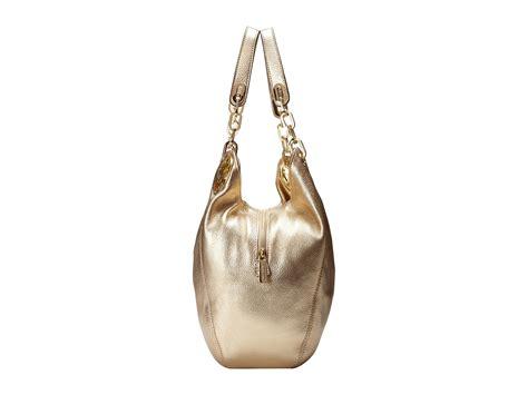 Michael Kors Fulton Large Shoulder Bag Pale Gold michael michael kors fulton large shoulder tote pale gold