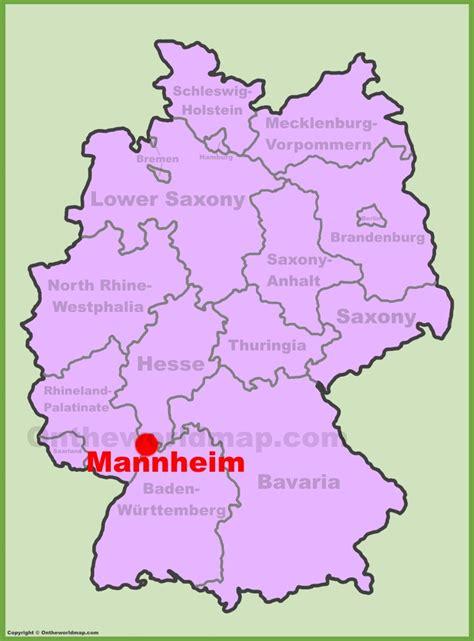 manheim germany map mannheim location on the germany map