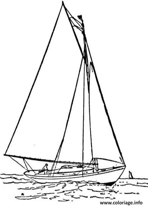 dessin bateau imprimer gratuit coloriage bateau voilier jecolorie