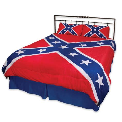 rebel flag three piece comforter set kennesaw cutlery
