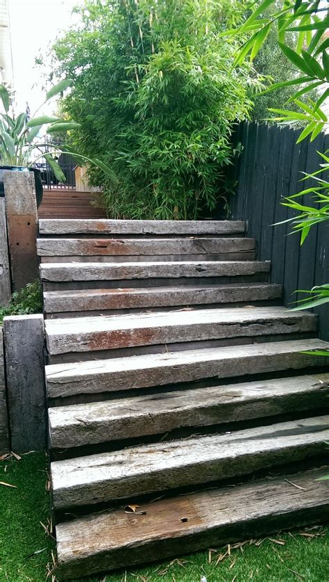 Railway Sleepers Oxford by 25 Best Ideas About Sleeper Steps On Sleepers