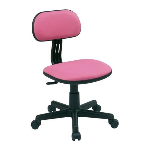 ospdesigns pink fabric office chair    home depot